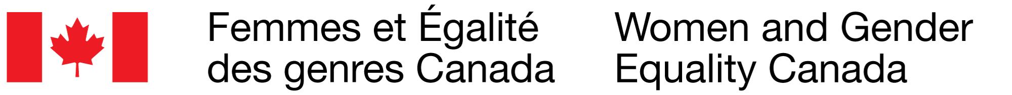 Logo Femmes et Égalité des genres Canada